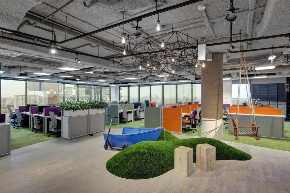 «Лучший офис от 1 до 5 тыс. кв. м»: в офисе компании Avito особое внимание уделяется зонам отдыха сотрудников