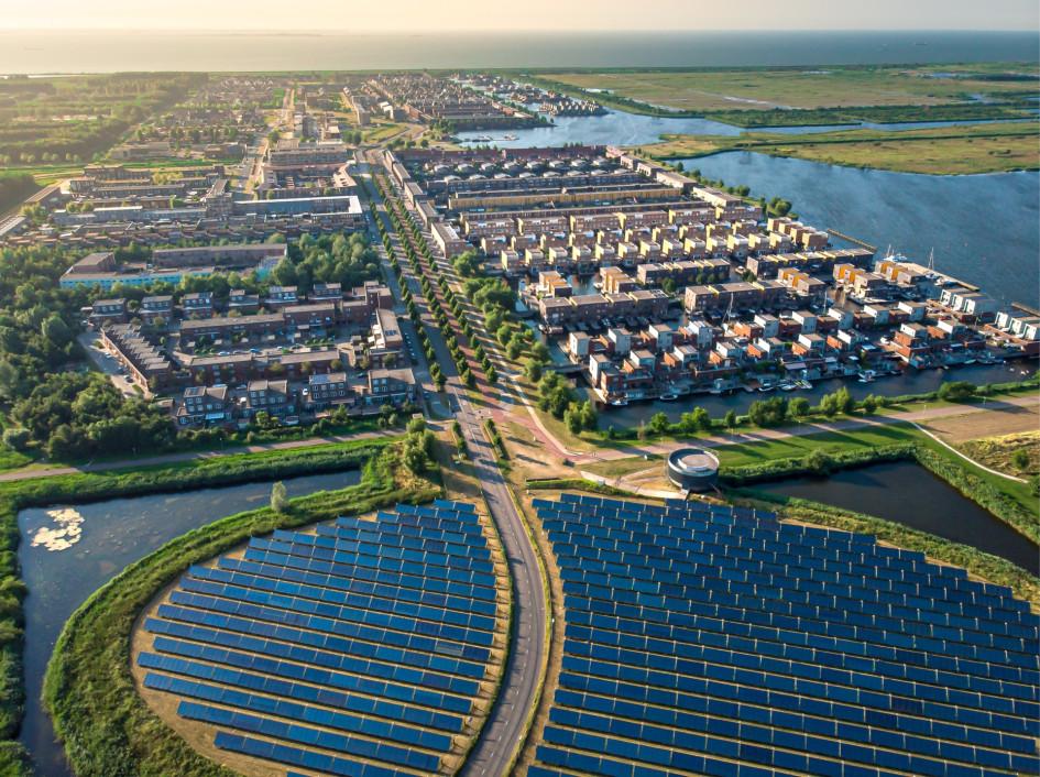 Экологический район в городе Алмере, Нидерланды