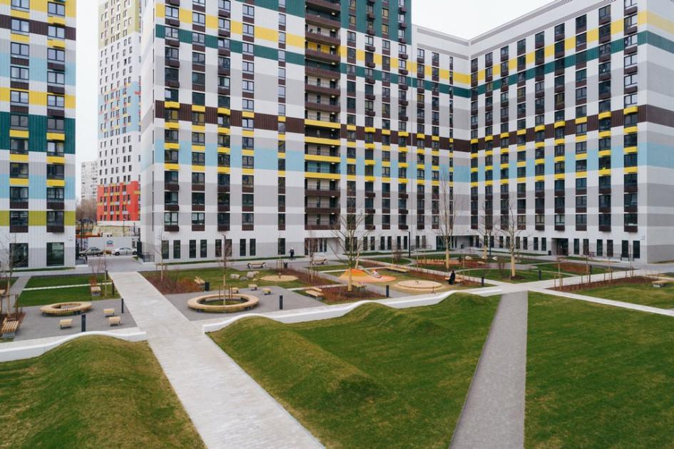 Внутренний двор вжилом комплексе «Варшавское шоссе, 141»