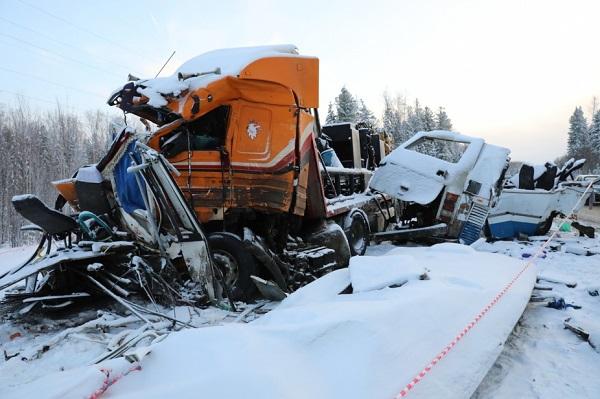 Снимок с места аварии
