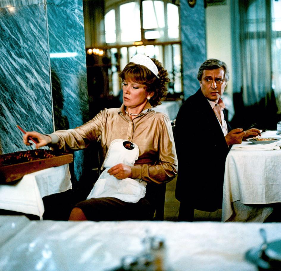 Съемки фильма «Вокзал для двоих» режиссераЭльдараРязанована Рижском вокзале. 1982год