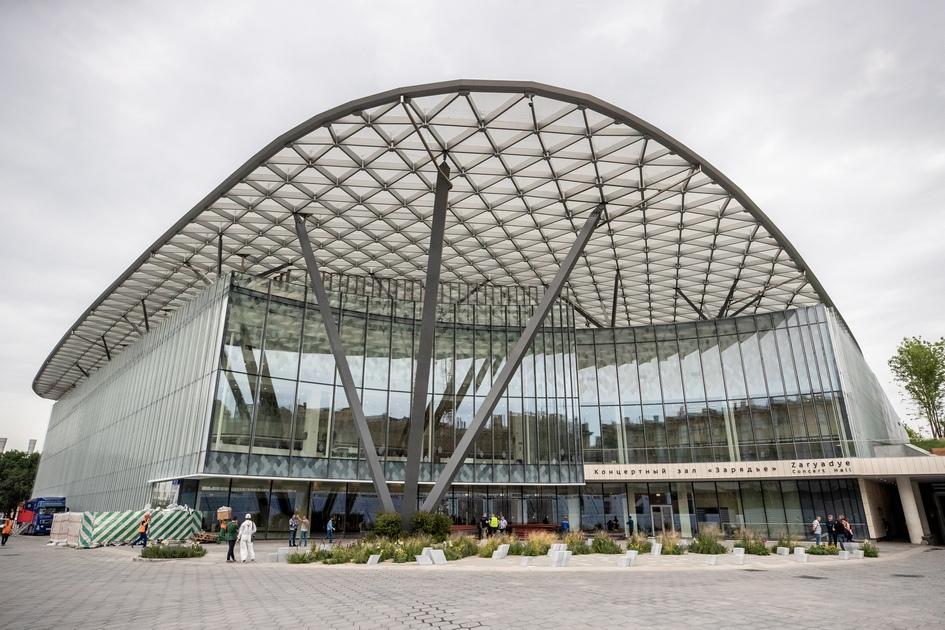 Вид на здание концертного зала «Зарядье»
