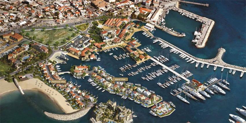Перспективный вид проекта Limassol Marina