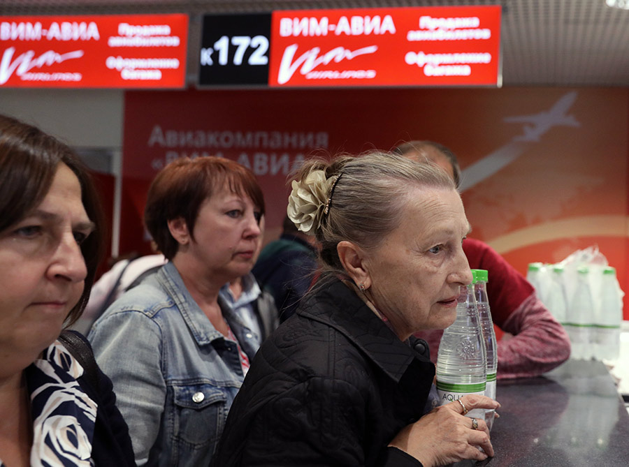 Пассажиры задержанных рейсов авиакомпании «ВИМ-Авиа». Сентябрь 2017 года