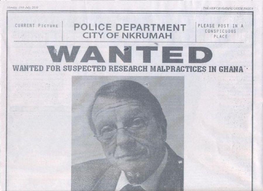 Постер Филлипса в одной из ганских газет, июль 2010 года