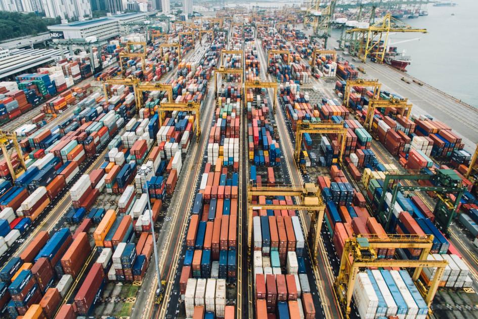 Промышленный порт Сингапура