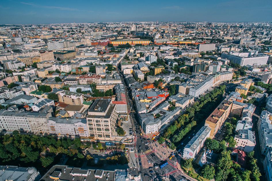 Вид на Тверской и Никитский бульвары