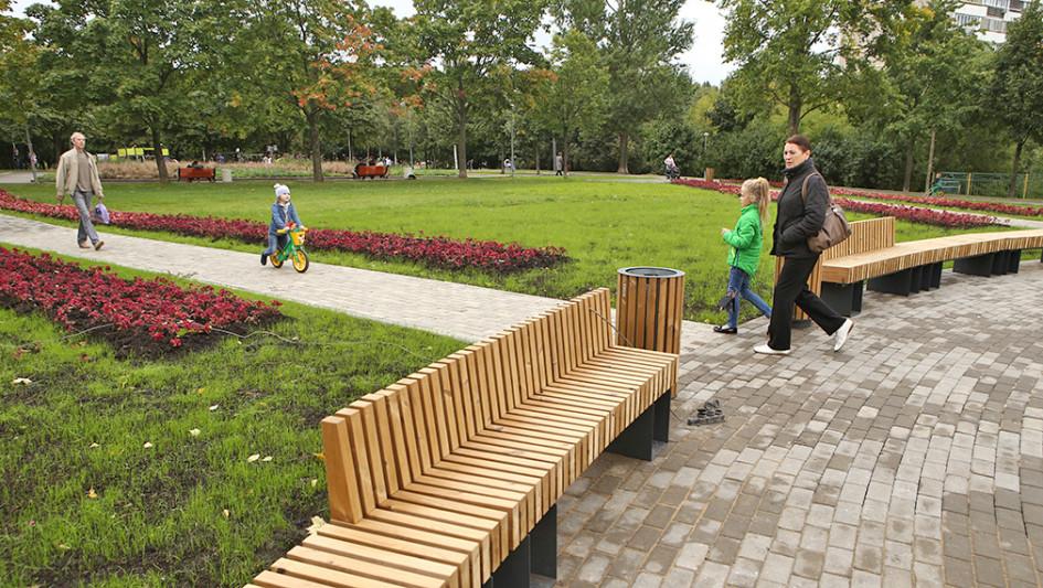 Парк 30-летия Победы в районе Чертаново Центральное