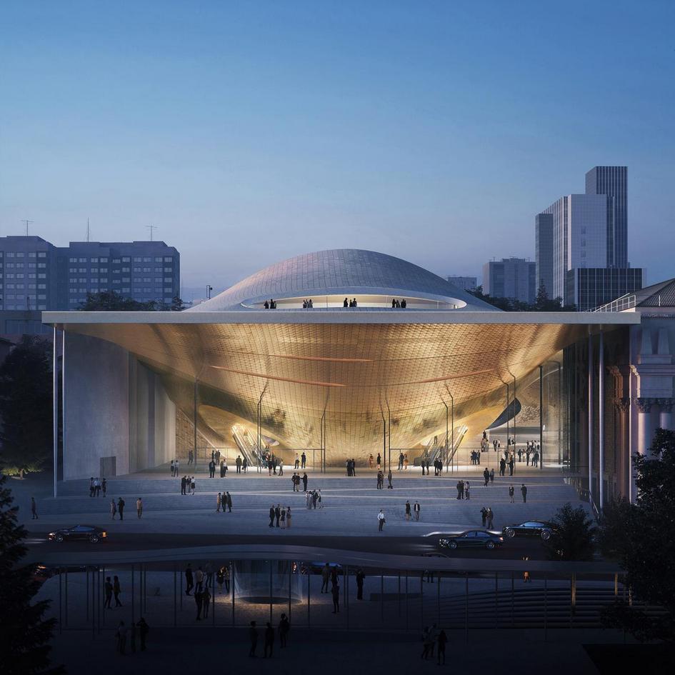 Проект здания Свердловской филармонии в Екатеринбурге