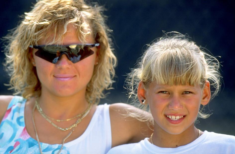 Анна Курникова с матерью Аллой в академии Ника Боллетьери во Флориде