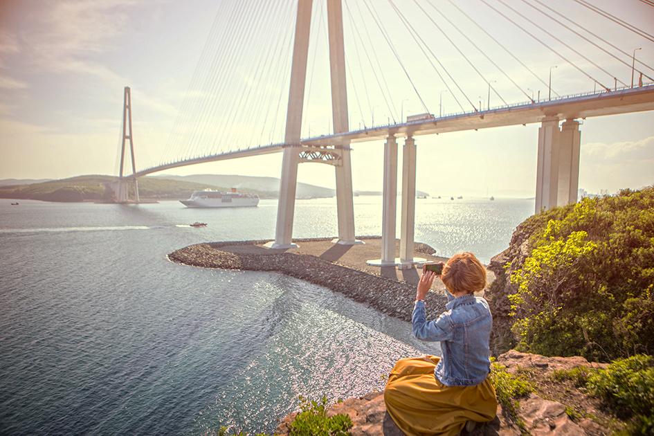 Русский мост. Владивосток