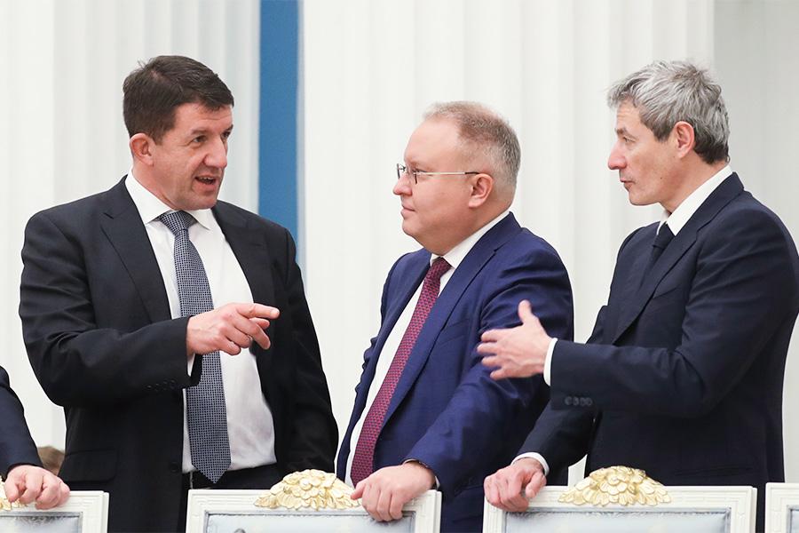 Михаил Осеевский, Андрей Муров и Вадим Мошкович (слева направо)