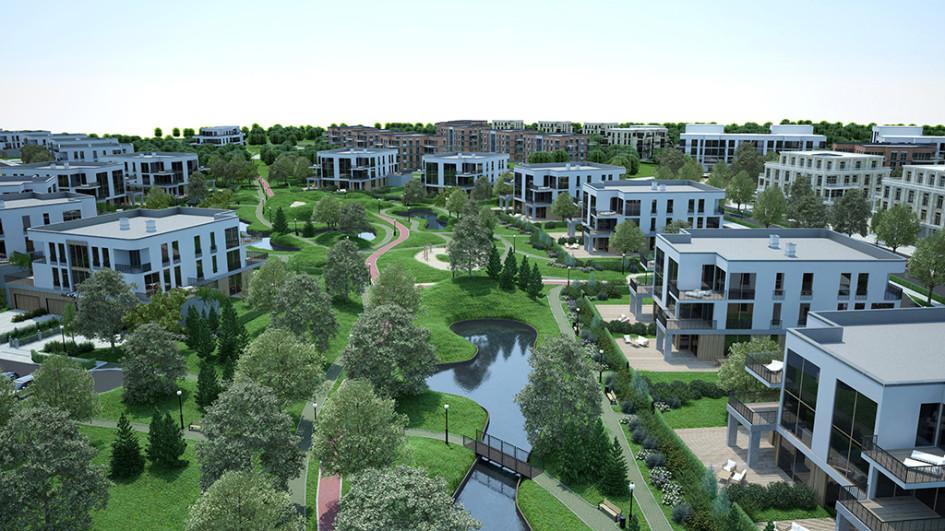 Визуализация проекта города-курорта Gatchina Gardens
