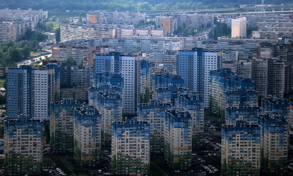 Нижний Новгород, вид нановостройки микрорайона Мещерское озеро вЗаречной части города