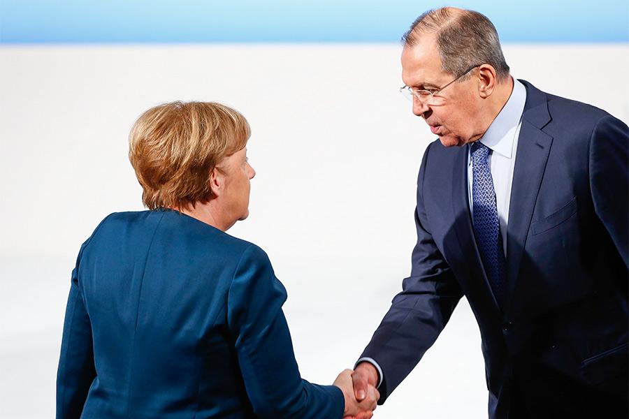 Ангела Меркель и Сергей Лавров на Мюнхенской конференции по безопасности