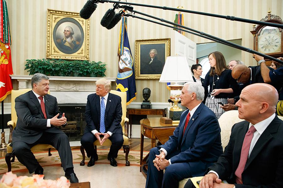 Встреча Петра Порошенко иДональда Трампа