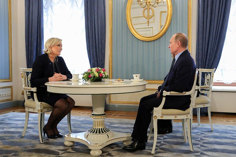 Марин Ле Пен иВладимир Путин
