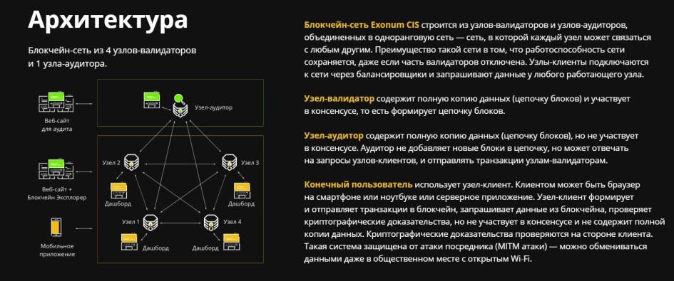 Архитектура блокчейна Exonum