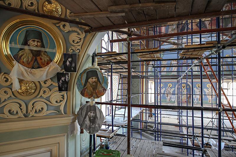 Реставрационные работы в Московском  епархиальном доме