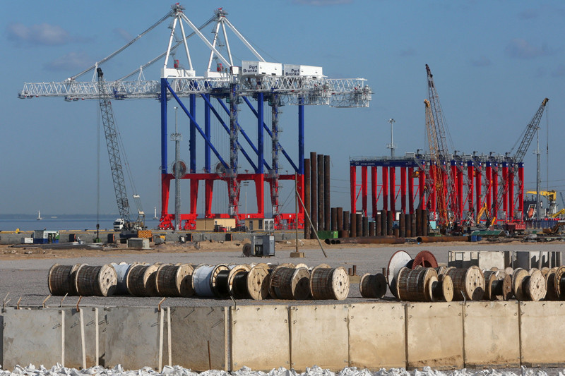 Строительство морского порта Бронка. Монтаж портового оборудования.2015 год