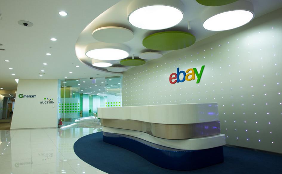 Холл в здании eBay в Сеуле, Южная Корея