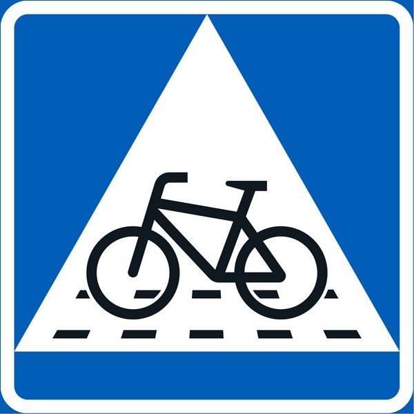 Знак «Велосипедный переход»