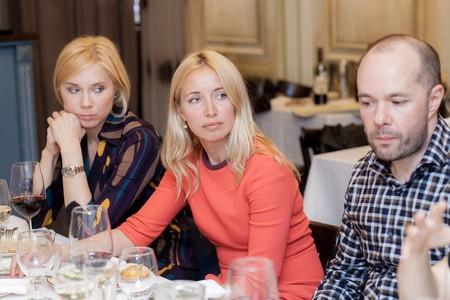 Ирина Чернигова (Simple), Екатерина Куканова (Linxdatacenter) и Евгений Зинин (РБК)