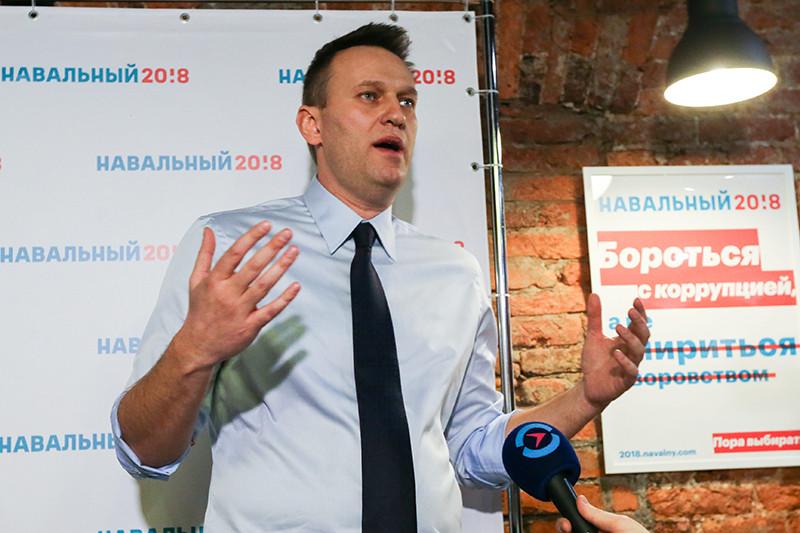 Открытие первого предвыборного штаба Алексея Навального в Санкт-Петербурге