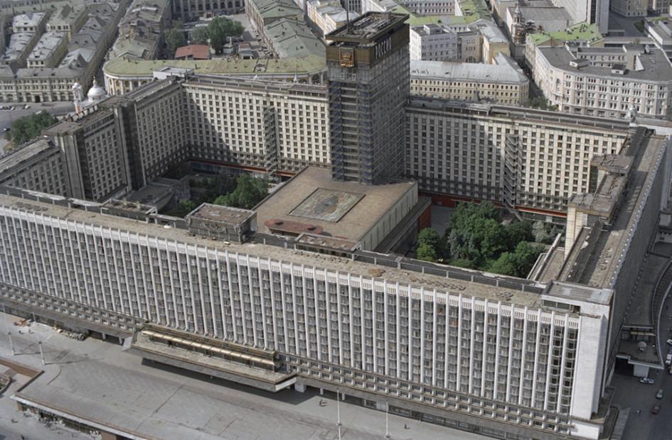 Гостиница «Россия» в 1992 году