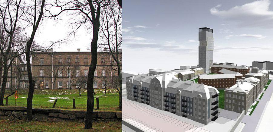 Современный вид и схема тюремного комплекса в Турку