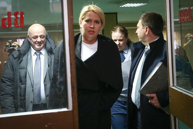 Бывшая глава департамента имущественных отношений Минобороны РФ Евгения Васильева, обвиняемая в мошенничестве, в Пресненском суде перед началом заседания по делу о хищениях в «Оборонсервисе»