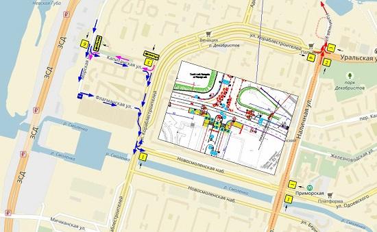 Схема съезда с зсд на васильевском фото 907