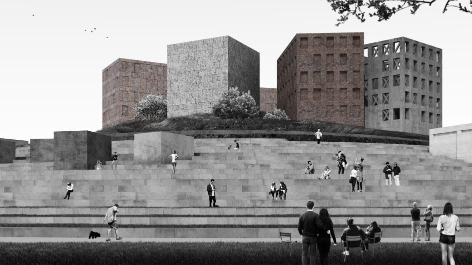 Фото: Эскиз концепции музейно-выставочного комплекса «Оборона и блокада Ленинграда»