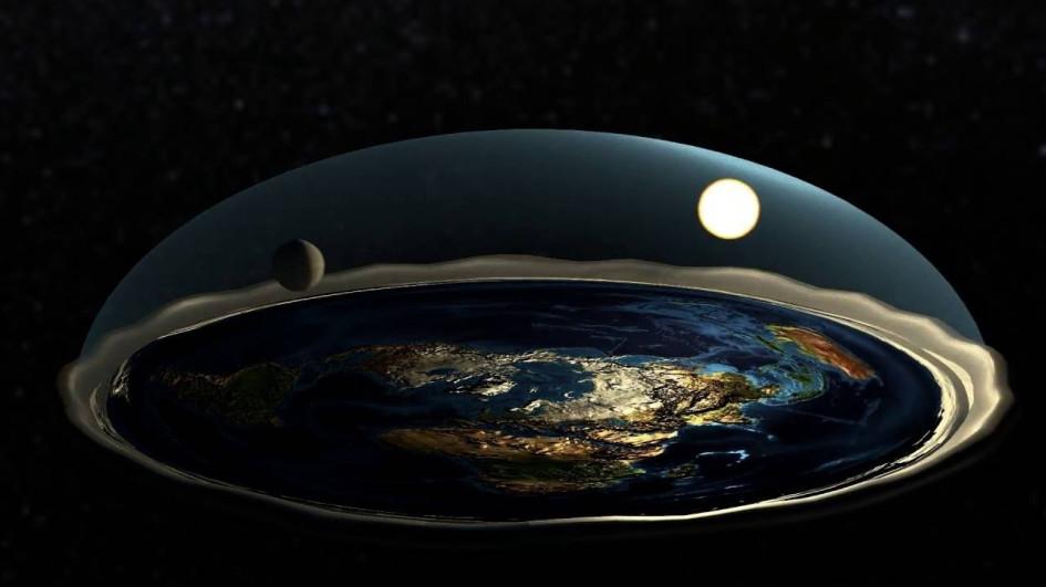 Плоская Земля с центром на Северном полюсе