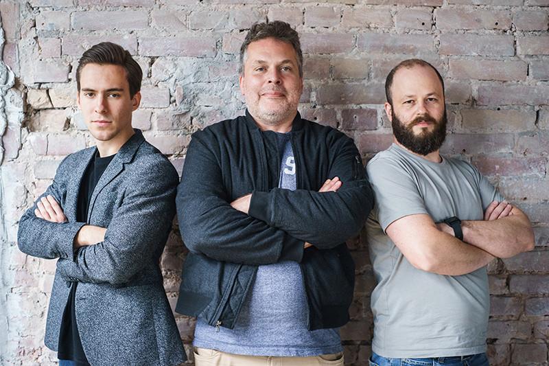 Марко Михич-Ефтич,Илья Осколков-Ценципер иИльяШаргаев (слева направо)