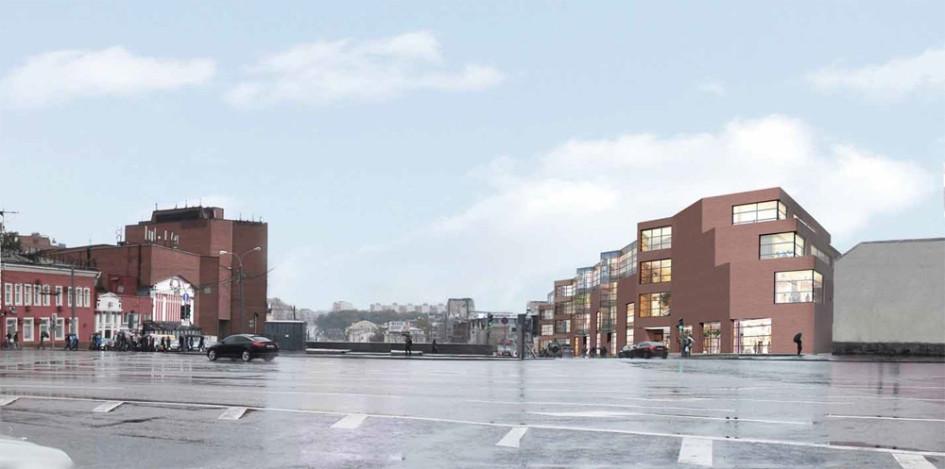 Архитекторы обещают сделать торговый центр на Земляном валу стилистически похожим на здание Театра на Таганке