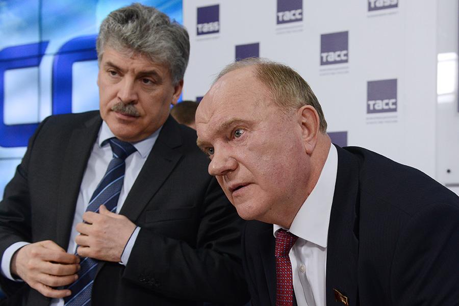 Павел Грудинин и ГеннадийЗюганов