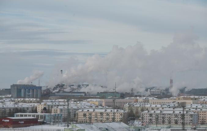 Краснотурьинск. На заднем плане – «Богословский алюминиевый завод» и примыкающаяк нему территория индустриальногопарка «Богословский»