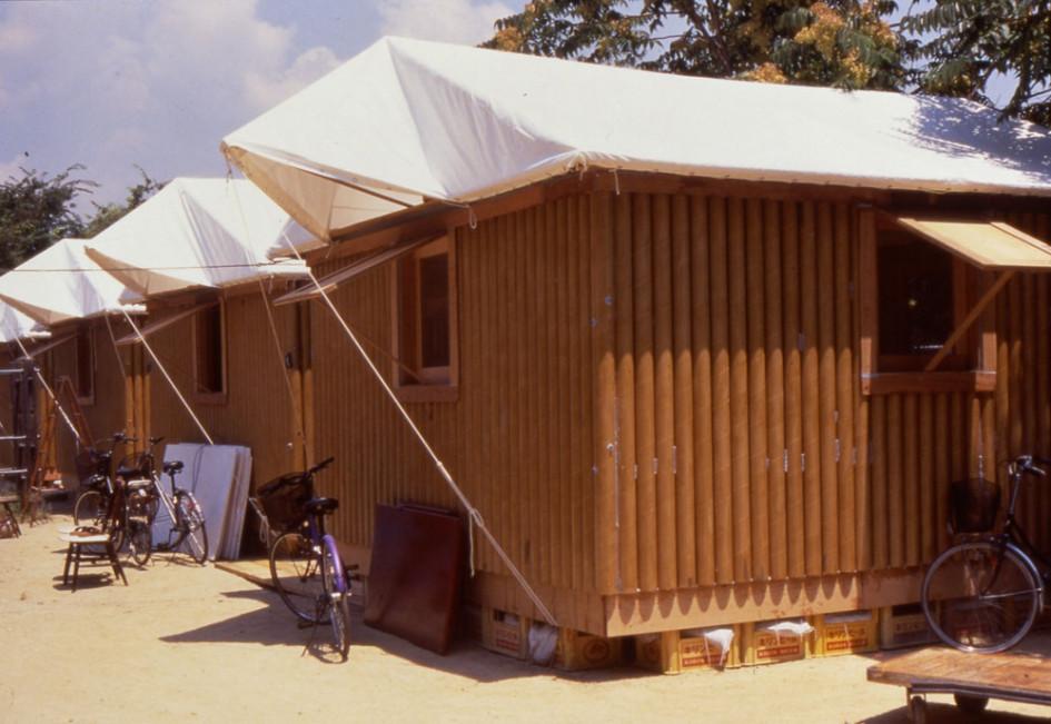 Paper Log House, 1995, Kobe, Japan