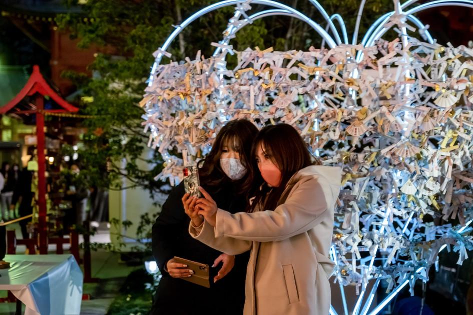 Новогодняя атмосфера в Токио
