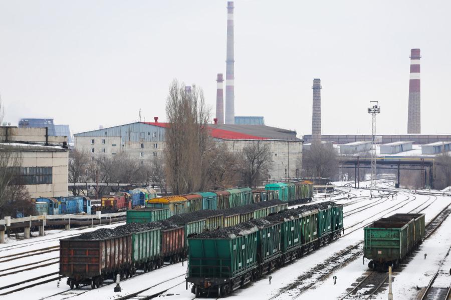Вагоны суглем дляДонецкого металлургического завода. 14 февраля 2017