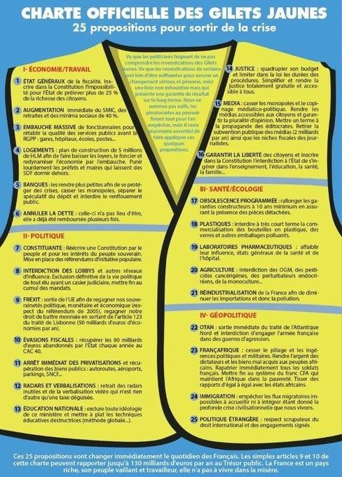 25 требований французских «желтых жилетов»