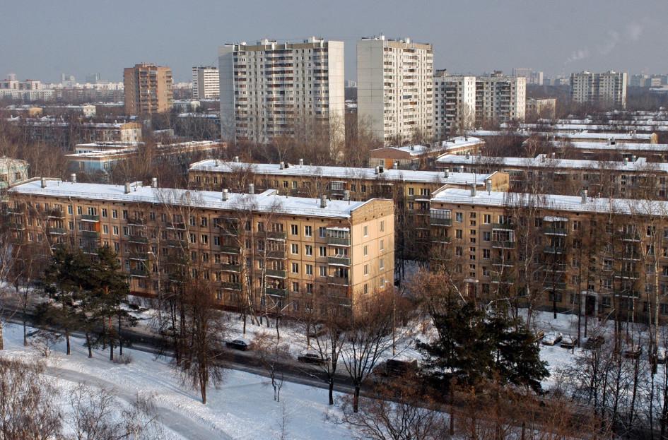 Москва. Панельные пятиэтажки. 5 февраля 2006 года