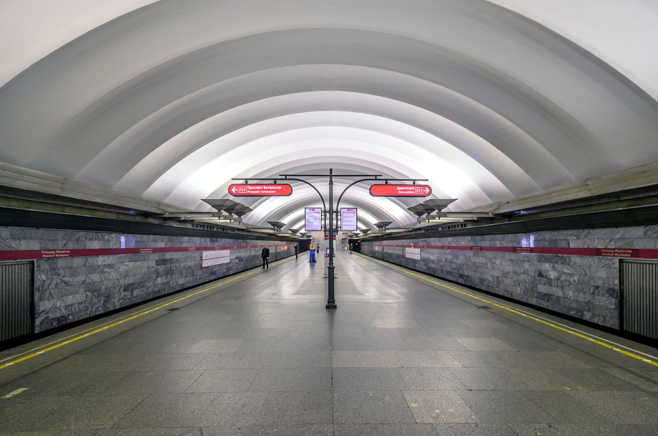 Станция «Площадь мужества»Петербургского метрополитена