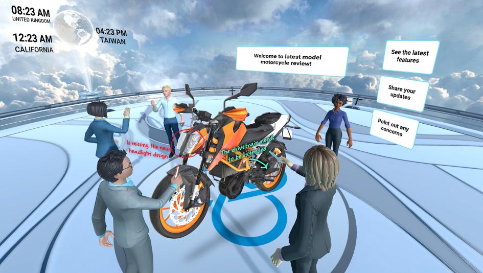 Работа с 3D объектом на платформе Vive SYNC