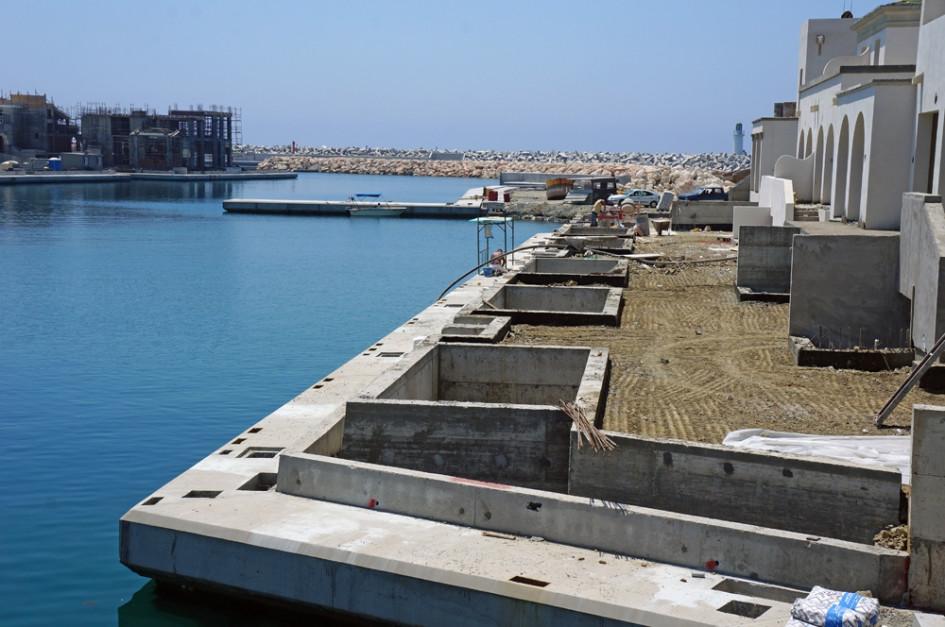 Вид на частные пристани сейчас