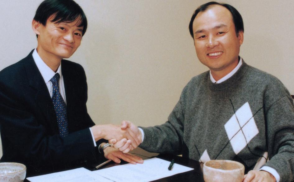 Джек Ма и Масаёси Сон (справа).