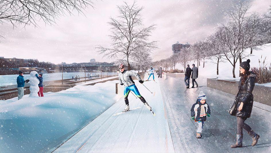 Проект использования набережной в зимний период