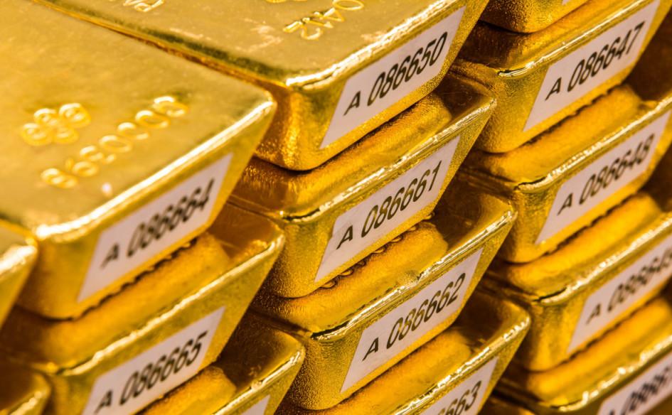 Слитки золотого резерва Германии в хранилище Deutsche Bundesbank