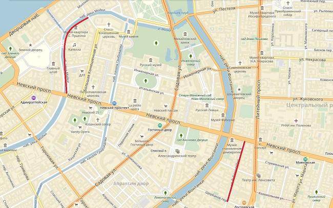 Ограничения движения транспорта впериод проведения VII Петербургского международного юридического форума